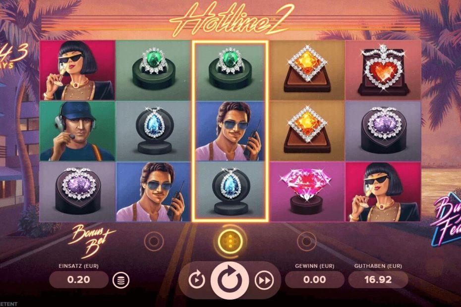 So sieht der Hotline 2 Spielautomaten aus