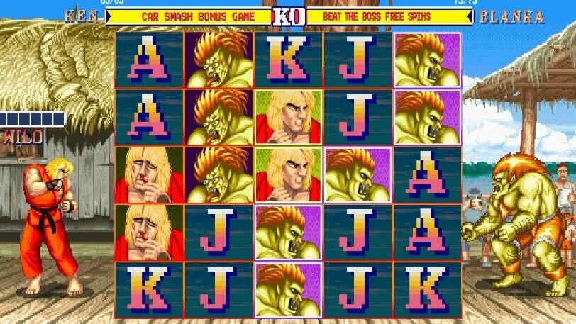 So sieht der Street Fighter Slot aus