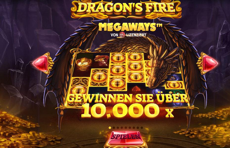 Dragons Megaways Slot Startbildschirm