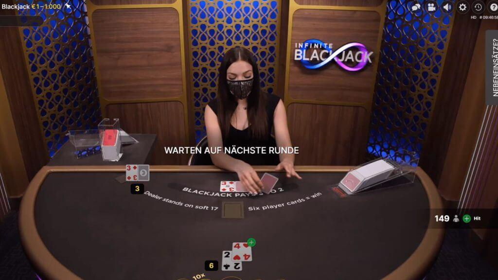 Live Blackjack im Online Casino