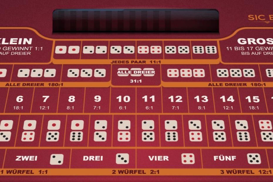 Sic Bo als Spielautomaten im Online Casino